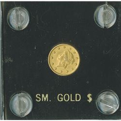 Liberty $1 1851,  Type I  gold,  Unc/Choice, UNC