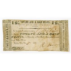 "Ripley, Ohio. ""Payable at My Coffee House"" 1837 Scrip Note."