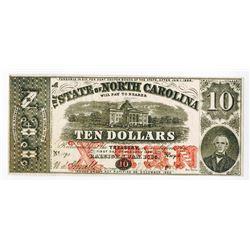 State of North Carolina, 1863 Obsolete Banknote.