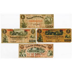 Bryant & Stratton's National College Currency 1863-1864 College Currency Quartet.