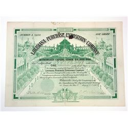 Louisiana Purchase exposition Co., 1904 Issued Stock Certificate.