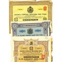 Issued Russian Bond trio, ca.1908-1912