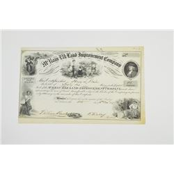 McKean and Elk Land and Improvement Co., 1871 Issued Stock Certificate