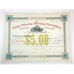 Dora Thorne Mining Co., 1888 Issued Stock Certificate