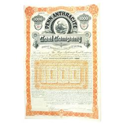 Penn Anthracite Coal Co., 1889 Issued Bond.