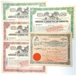 Louisiana Stock Certificate Assortment, ca.1913-1930.