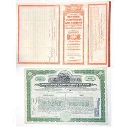Railroad Bond Pair, 1923-33.