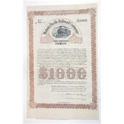 Dakota Pacific Railroad Co., 1899 Issued $1000 Coupon Bond.