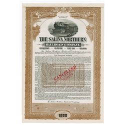 Salina Northern Railroad Co.,1915 Specimen Bond.