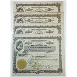 Chesapeake and Ohio Northern Railway Co., ca.1914-1918 Group of Cancelled Stock Certificates