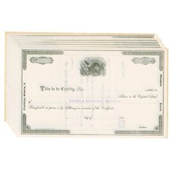 Kentucky & South Atlantic Rail Road Co., ca.1880-1890 Group of Unissued Stock Certificates