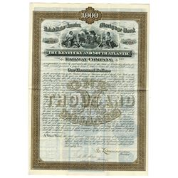 Kentucky and South Atlantic Railway Co., 1882 Issued Bond