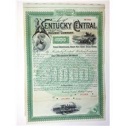 Kentucky Central Railway Co., 1887 Specimen Bond