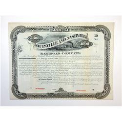 Louisville and Nashville Railroad Co., 1880 Specimen Bond