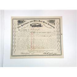 Baltimore & Ohio Rail Road Co., 1875 Cancelled Stock Certificate