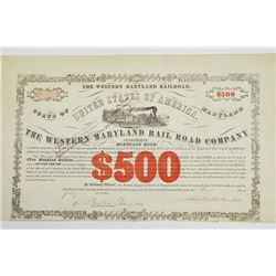 Western Maryland Rail Road Co., 1870 Issued Bond