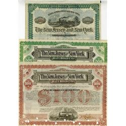 New Jersey and New York Railroad Co., 1885-1888 Issued Bond Trio