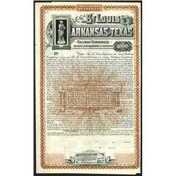 St.Louis Arkansas and Texas Railway Companies, 1887 Specimen Bond.