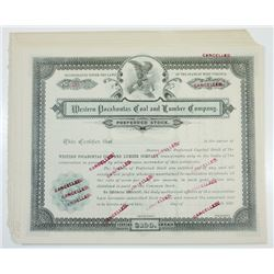 Western Pocahontas Coal and Lumber Co., ca.1900-1910 Group of Cancelled Stock Certificates