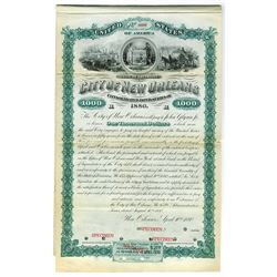 City of New Orleans, 1880 Specimen Bond.