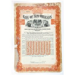 City of New Orleans, 1907 Specimen/Proof Used by the Production department.
