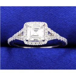 "Designer 1.27 ct TW ""Sylvie"" Halo Style Diamond Engagement Ring"