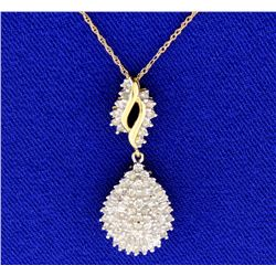 1 ct TW Diamond pendant with chain