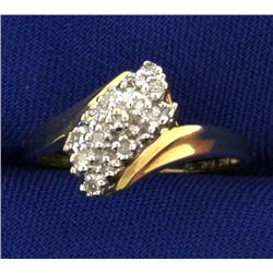 Waterfall 1/4 Ct TW Diamond Ring
