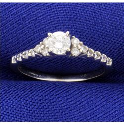 1/3 ct TW Diamond Engagement Ring in 14k White Gold