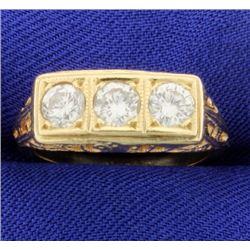 Vintage 1ct TW 3 Stone Diamond Ring