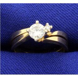 Matching Diamond Engagement Ring with Wedding Band Bridal Set