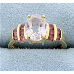 Pink Quartz Ring