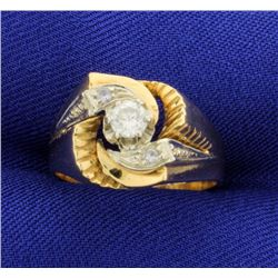 18K .3ct Total Weight Diamond Ring
