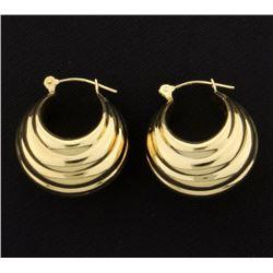 Thick Hoop Earrings