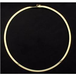 Italian Made 17 Inch Omega Necklace