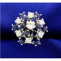 High Quality Diamond & Sapphire Ring
