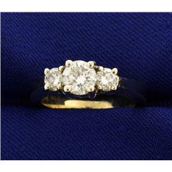 Three Stone 1 1/4ct TW Diamond Ring
