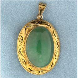 Large Antique Jade Pendant