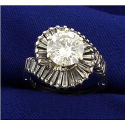 4ct TW Diamond Ring with Hinged Arthritic Shank
