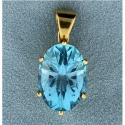 14ct Blue Topaz Pendant