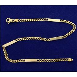 10 1/2 Inch Curb and Bar Link Anklet