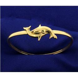 Dolphin Bangle Bracelet