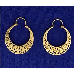 Designer Unique Hoop Earrings