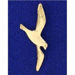 14k Gold Dove or Bird Pendant