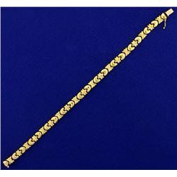 Designer 18k Gold Link Bracelet