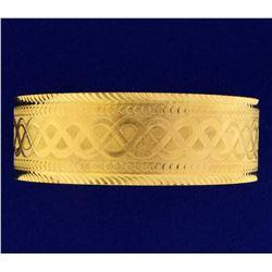 22K Wide Bangle Bracelet