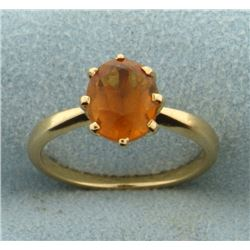 2.5 ct Natural Citrine Ring in 14k Gold