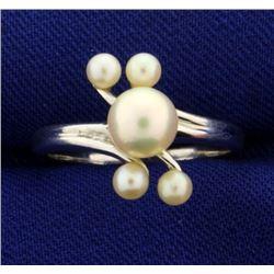 Five Pearl Designer Ring