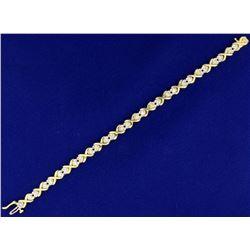 1ct TW Diamond Heart Bracelet