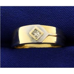White and Yellow Gold Diamond Band Ring